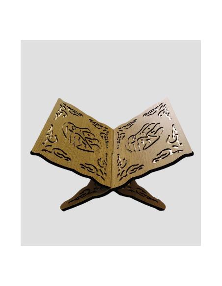 Porte Coran En Bois Sculpté Beige