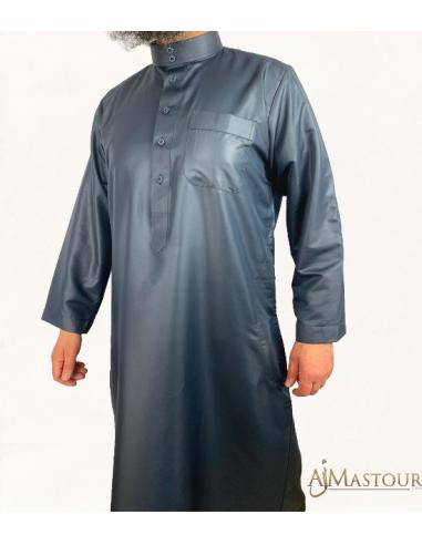 Qamis Saoudien Anthracite-Zein