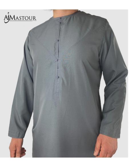 Qamis Custom Qamis Emirati Gris