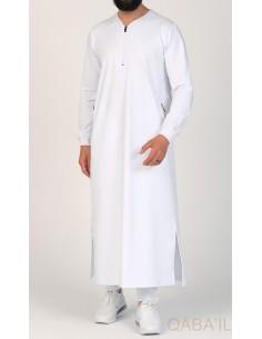 Qamis QL Jersey Blanc - Qaba'il