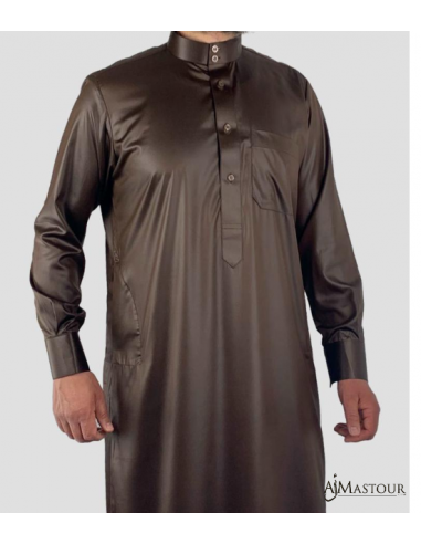 Qamis Saoudien Marron - Emirats collection