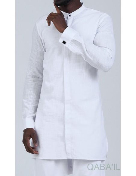 Chemise Ultrat Légere Col Officier blanc - Qaba'il