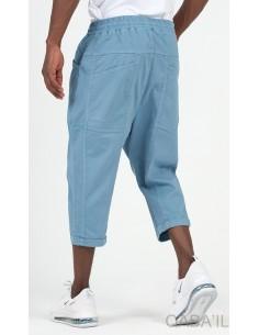 Sarouel Bermuda Stretch Bleu wash - Qaba'il
