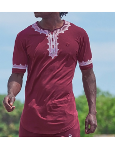 Tee-Shirt Etniz Bordeaux - Qaba'il