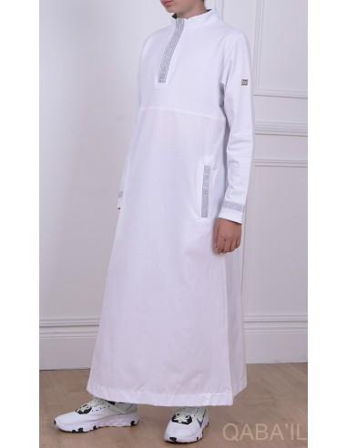 Qamis Eminence Blanc / Argent - Qaba'il
